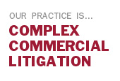 We Specialize in Complex Commercial Litigation